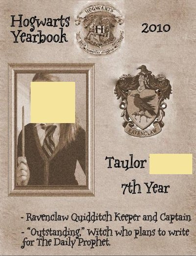 Hogwarts Yearbook Page Yourself!