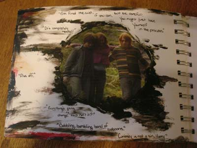 Harry Potter Notebook Inside