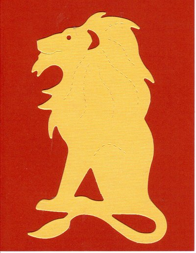 Gryffindor Lion Notecards