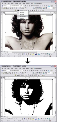 Making a Stencil in Microsoft Word - Fig. 1