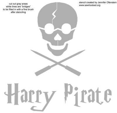 Harry Pirate stencil