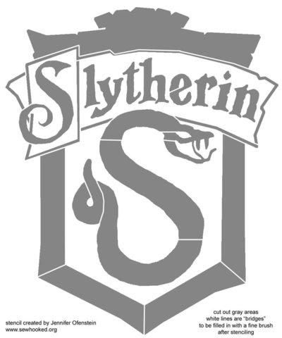Slytherin Crest stencil