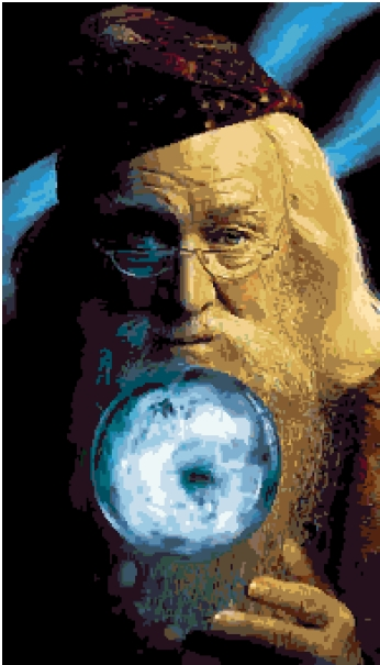 Professor Dumbledore (v4) cross-stitch chart