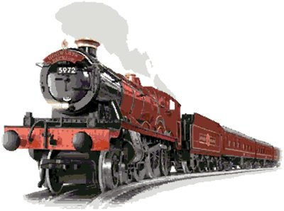Hogwarts Express cross-stitch chart