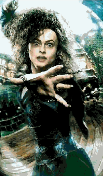 Bellatrix LeStrange (v2) cross-stitch chart