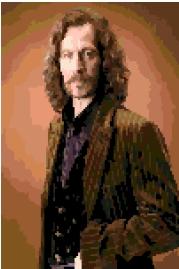 Sirius Black cross-stitch chart