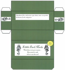 Edible Dark Mark Box Template