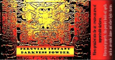 Peruvian Instant Darkness Powder Label