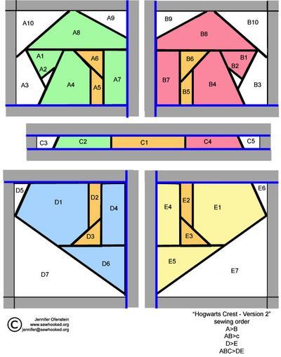 Hogwarts Crest (v2) Pattern
