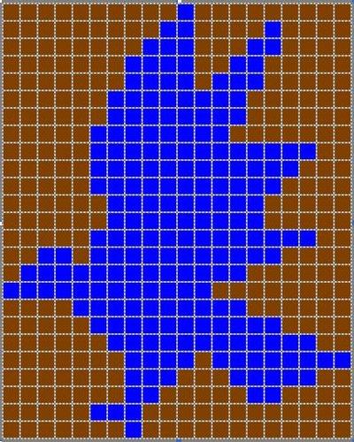 Ravenclaw Intarsia Chart