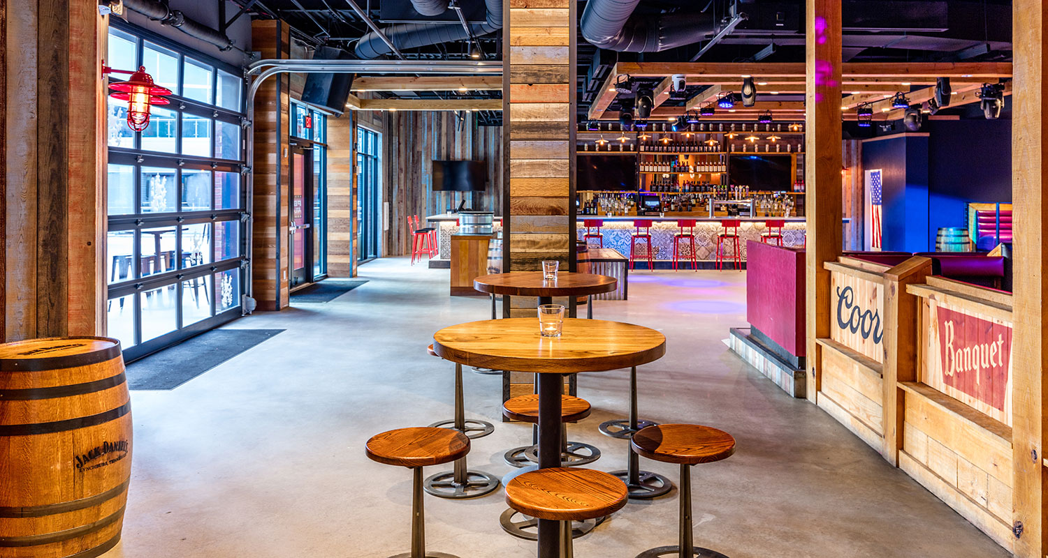 ... Chef Todd English, And A Cowboy Cool Bar/lounge Called PBR Atlanta That  Includes A Huge Dance Floor, Mechanical Bull, And Balcony Firepit Lounge  Area.