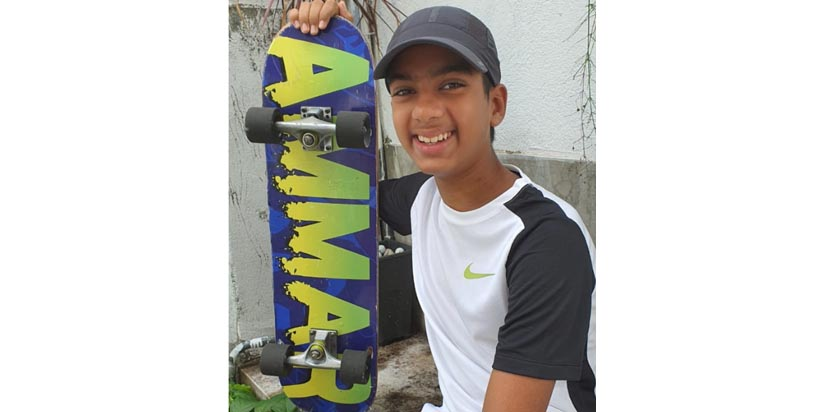 Multitalented Ammar points out the need for a skate park