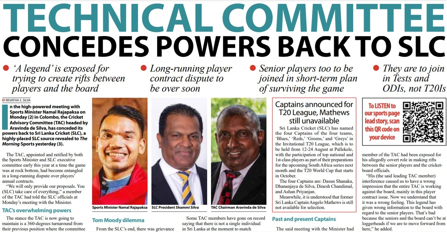 EXCLUSIVE – Technical Committee concedes powers back to SLC