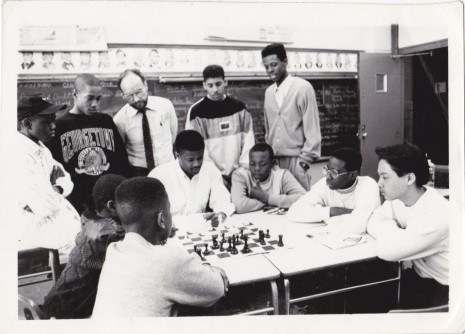 Maurice Working With The Junior High School Chess Team The Raging Rooks Who Won The National Championships In 1991 Photo Credit Charu Robinson 465X334 1