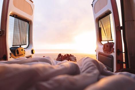 morning from campervan