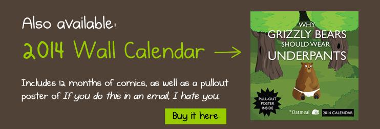 The Oatmeal 2014 Wall Calendar