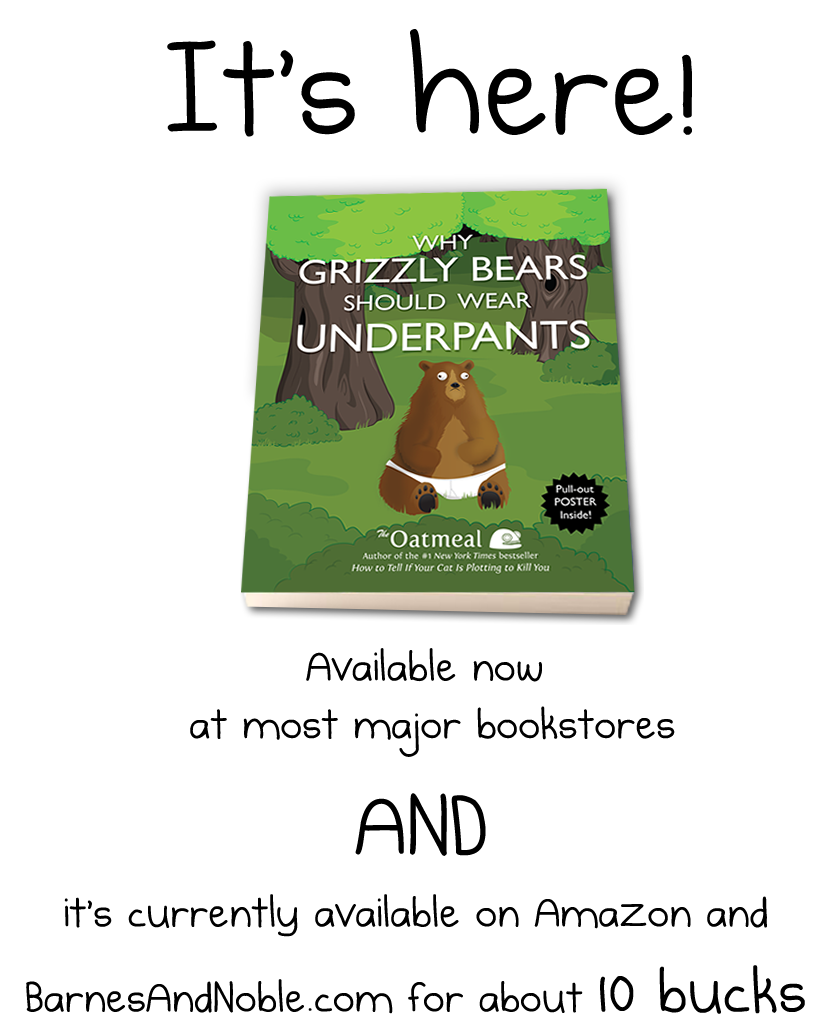 My new book is here - Why grizzly bears should wear underpants