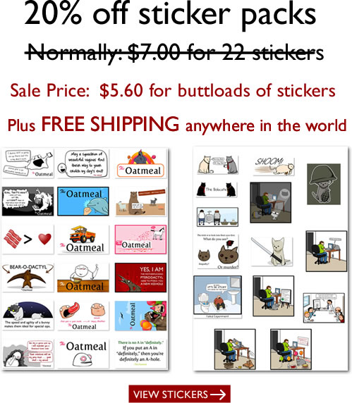 Stickers are 20% off plus free shipping