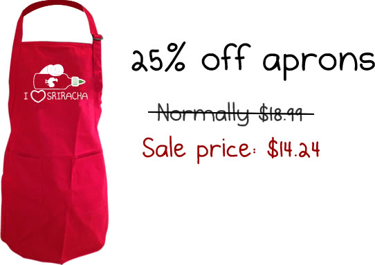 Aprons are 25% off