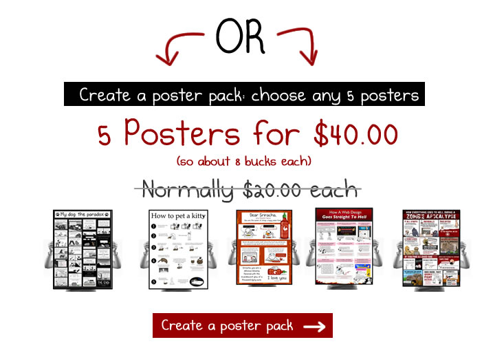 Create an Oatmeal poster pack