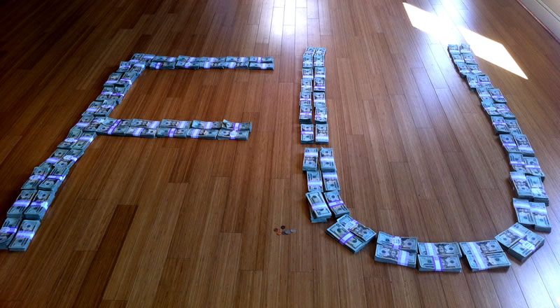 """FU"" spelled out in $211,223.04 -- including the spare change"