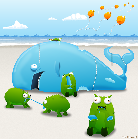 Tumbeasts and the Fail Whale go to the beach