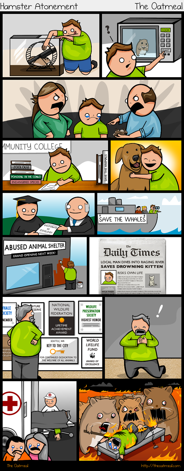Hamster Atonement - by The Oatmeal