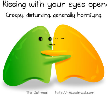 Kissing with your eyes open