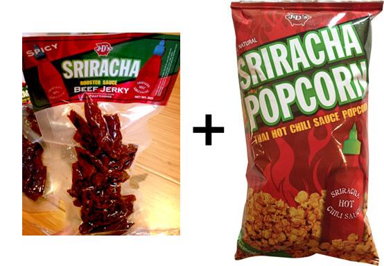 Sriracha Beef Jerky + Popcorn Combo Pack