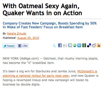 Quaker Oatmeal wants to make sexy sandwiches with The Oatmeal