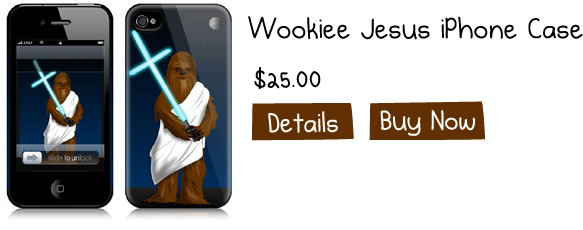 Wookiee Jesus iPhone Cases