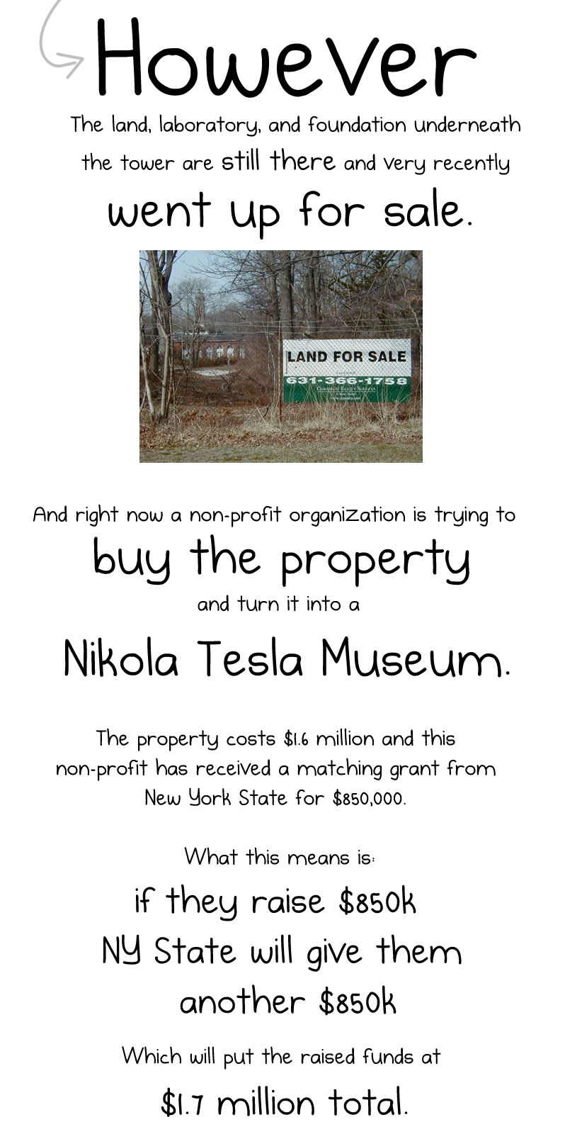 Help me raise money to buy back Nikola Tesla's old laboratory
