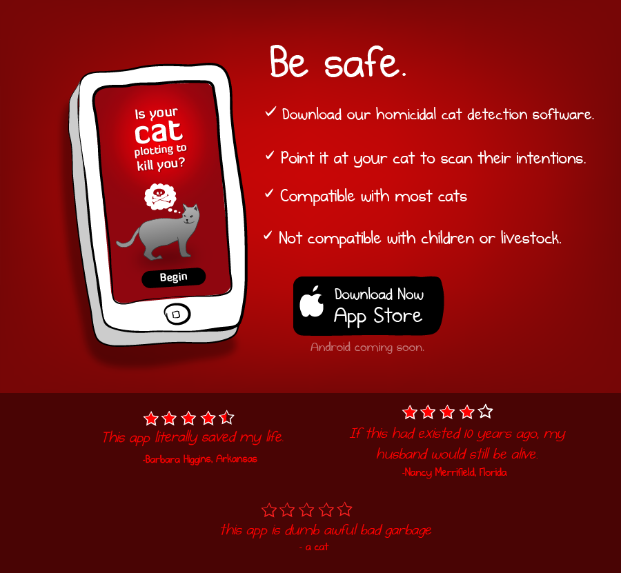 Is your cat plotting to kill you? The App