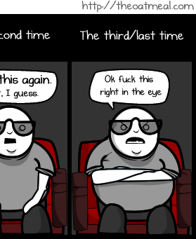 The 3 Phases of seeing a 3d movie
