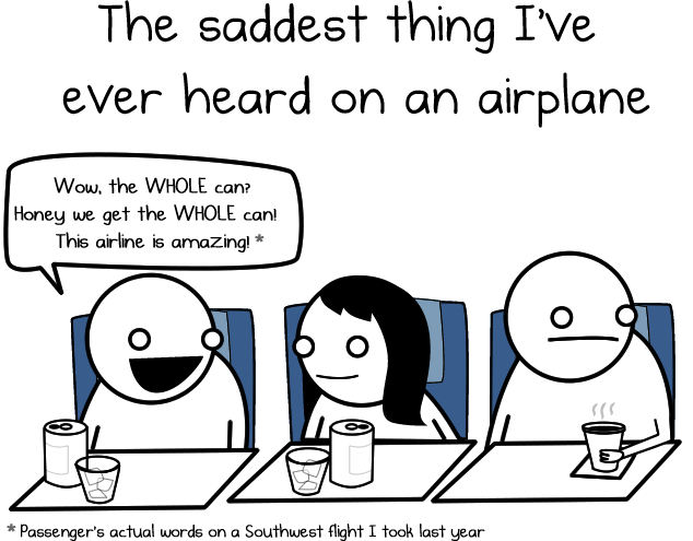The saddest thing I've ever  r heard on an airplane