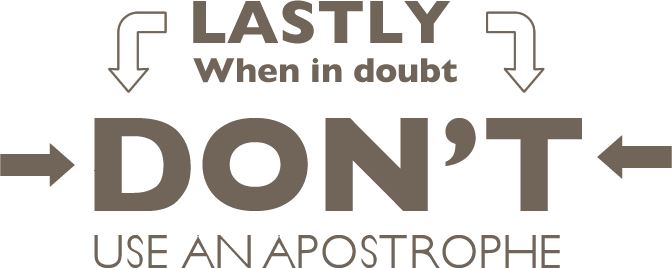 How to use an Apostrophe