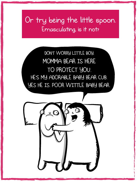 How to cuddle like you mean it - The Oatmeal
