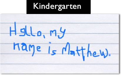 How my handwriting has changed since Kindergarten - The Oatmeal