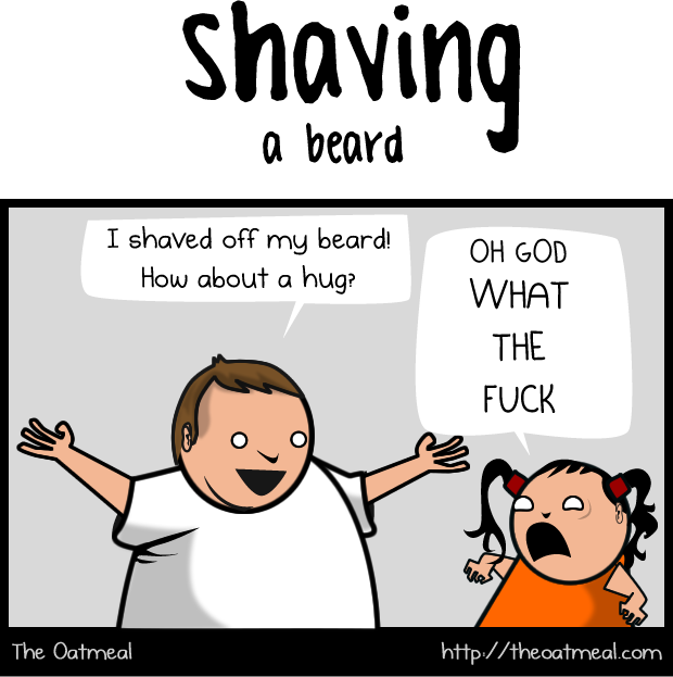 Growing a beard VS shaving a beard