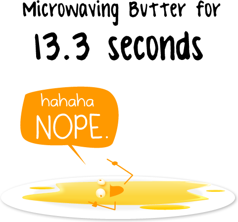 Microwaving butter