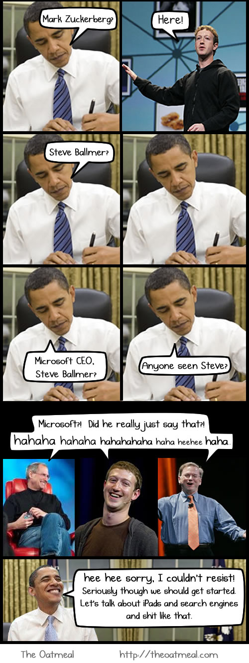 obama meets google, apple, facebook