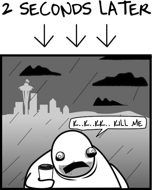 4 pory roku w Seattle ;)