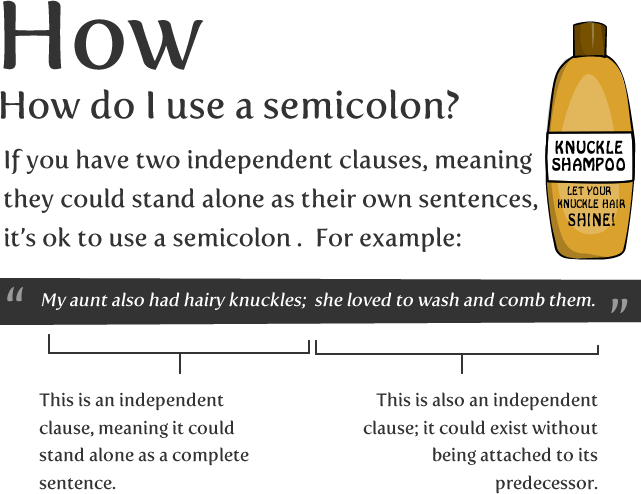 Image result for semi colon