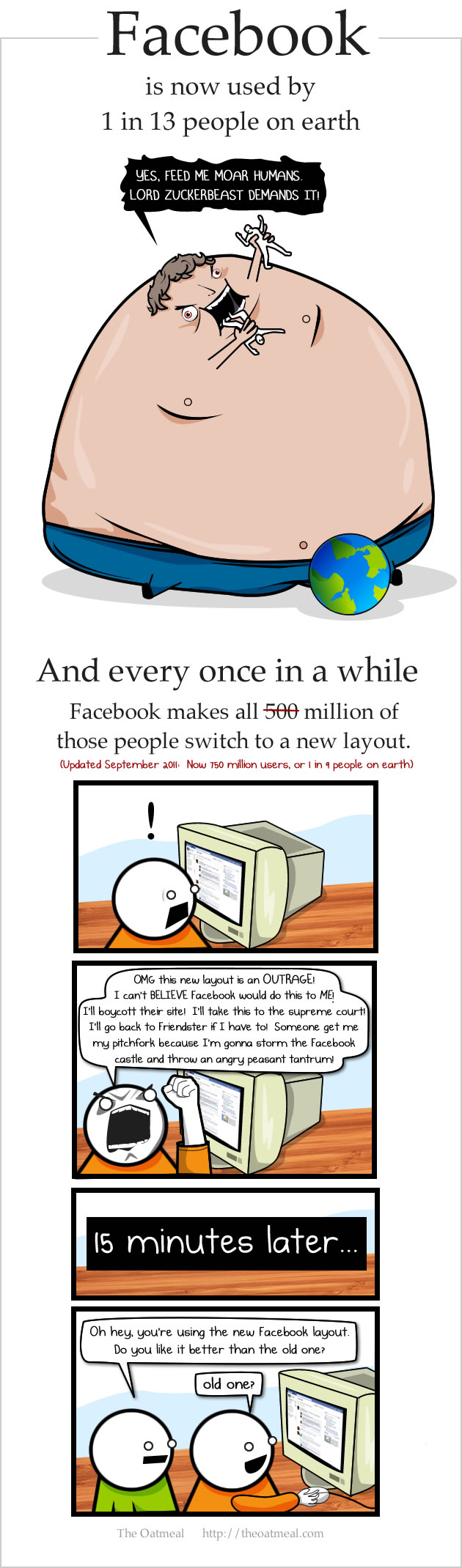 Facebook Changes - By the Oatmeal