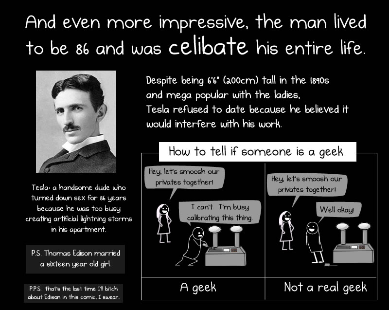 Thank you, Nikola Tesla