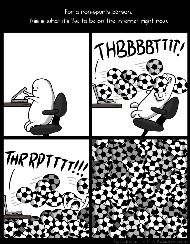 How it feels to be on the internet during the World Cup