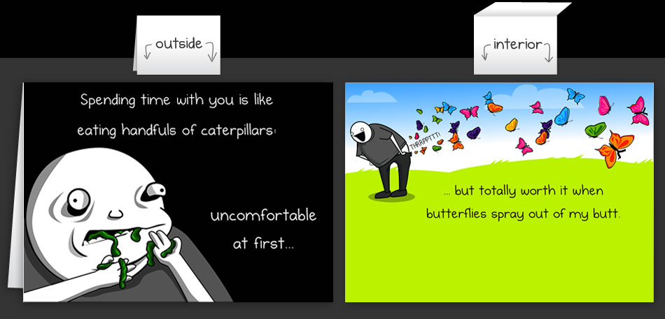 horrible cards  greeting cards by the oatmeal, Greeting card