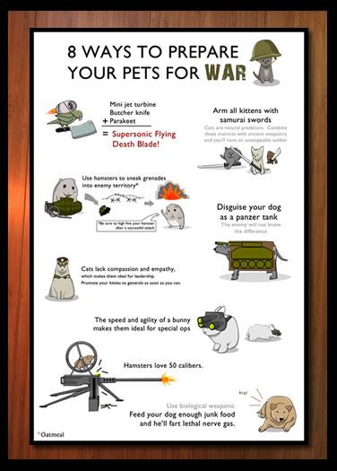 pets war signed print