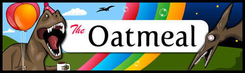 The Oatmeal Bumper Sticker
