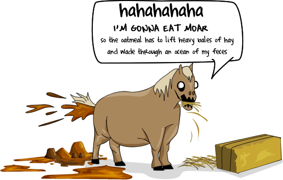 Funny Cartoon Horse Poop